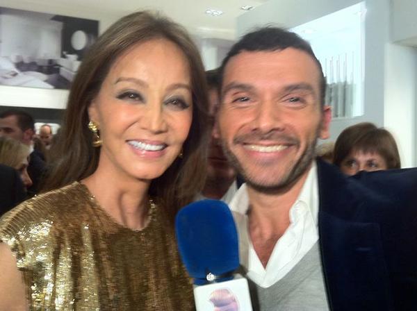 Luis Garcia Temprano con Isabel Preysler