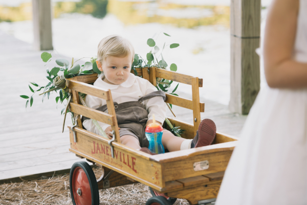 Baby-in-Wagon-at-Wedding-600x401
