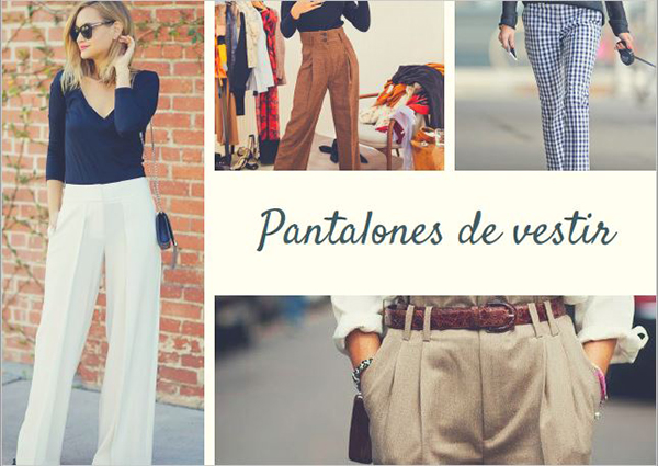 Look oficina pantalones